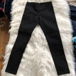 H&M leopard print black stretch skinny pant